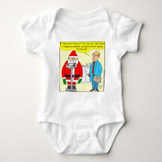 x63 santa say no no no to cookies cartoon baby bodysuit