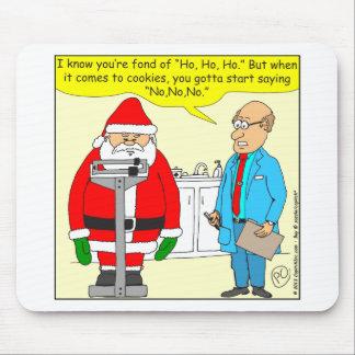 x63 santa say no no no to cookies cartoon mouse pad