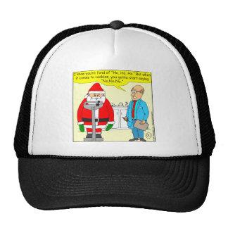 x63 santa say no no no to cookies cartoon trucker hat