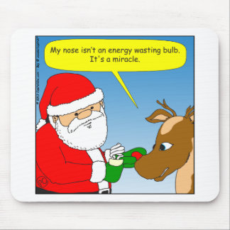 x64 rudolph energy efficient bulb cartoon mouse pad