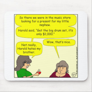 x66 drums for christmas cartoon mouse pad