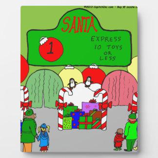 x67 expresan el dibujo animado de santa placa