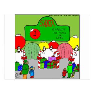 x67 expresan el dibujo animado de santa tarjeta postal