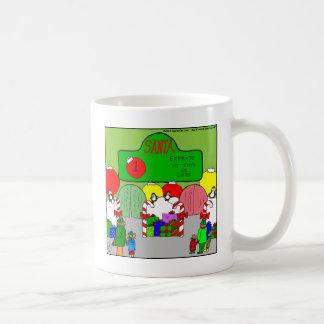 x67 expresan el dibujo animado de santa taza de café