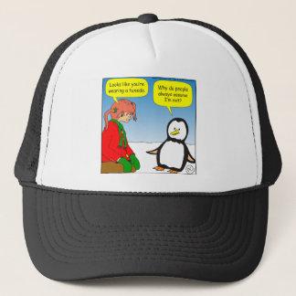 x68 penguin TUX cartoon Trucker Hat
