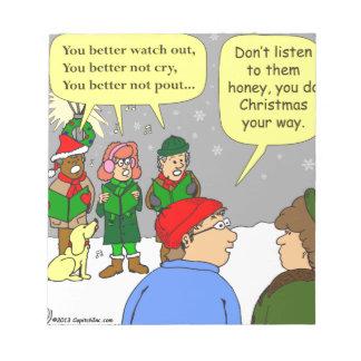 x72 do christmas your way cartoon notepad