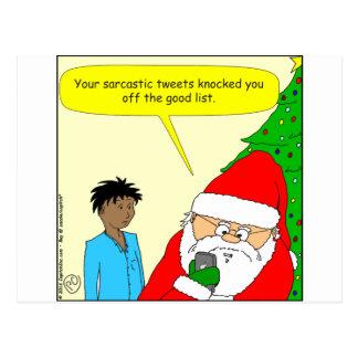 x75 sarcastic tweets cartoon postcard