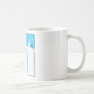 x77 (366) polar bear fishing for elf cartoon coffee mug