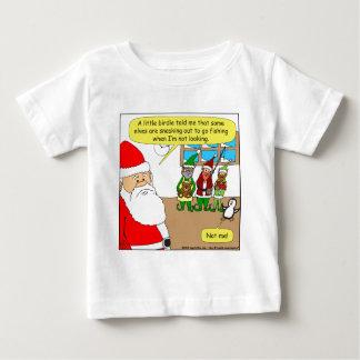x81 Santa's elf has gone fishing? Cartoon Baby T-Shirt