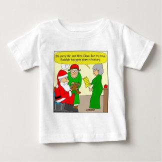 x82 Rudolph ha entrado abajo en dibujo animado de T-shirt