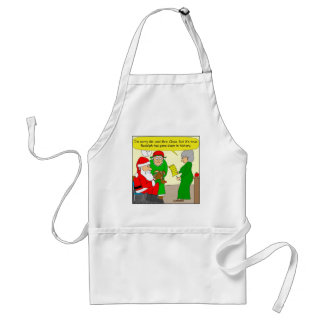 x82 Rudolph has gone down in History Class cartoon Adult Apron