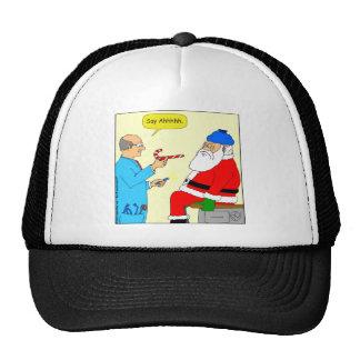 x85 Santa say ahhh Cartoon Trucker Hat
