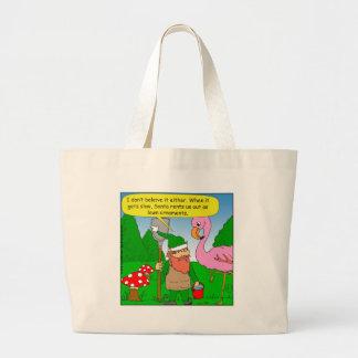 x86 elf lawn ornament cartoon jumbo tote bag