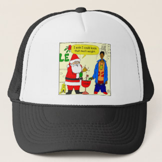 x91 Santa wishes he could loose weight cartoon Trucker Hat