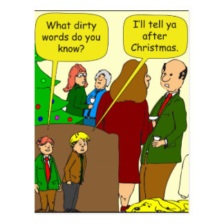 x94 dirty words 1 cartoon postcard