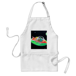 X-15 FLYING SAUCER ADULT APRON