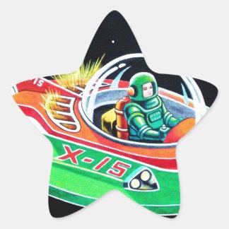 X-15 FLYING SAUCER STAR STICKER