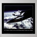 X-15 mounted to B-52 Mothership Pylon in Flight Poster