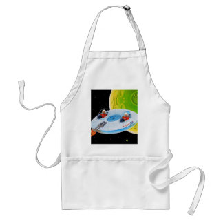 X-200 FLYING SAUCER ADULT APRON