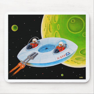 X-200 FLYING SAUCER MOUSE PAD