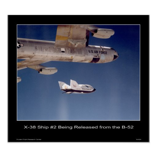 X-38 Ship #2 being released from the B-52 Poster