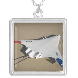 X-48B Blended Wing Body unmanned aerial vehicle 2 Silver Plated Necklace