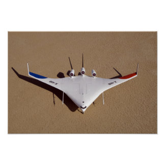 X-48B Blended Wing Body unmanned aerial vehicle 3 Poster