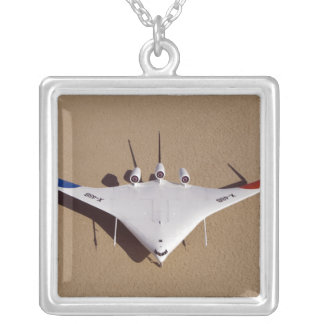 X-48B Blended Wing Body unmanned aerial vehicle 3 Silver Plated Necklace