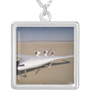 X-48B Blended Wing Body unmanned aerial vehicle 4 Silver Plated Necklace