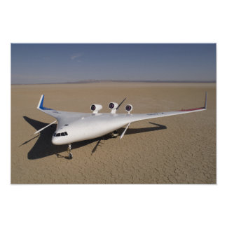 X-48B Blended Wing Body unmanned aerial vehicle Poster