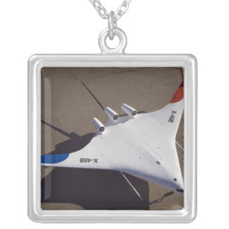 X-48B Blended Wing Body unmanned aerial vehicle Silver Plated Necklace