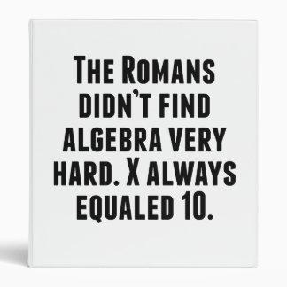 X Always Equals 10 Vinyl Binders