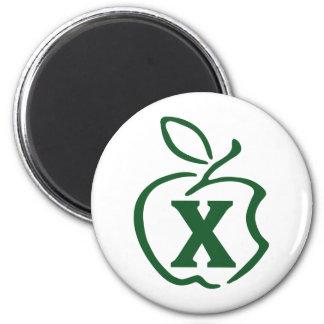 X-apple 2 Inch Round Magnet