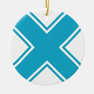 X azul ornamente de reyes