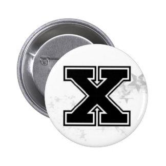 X botón pin redondo de 2 pulgadas