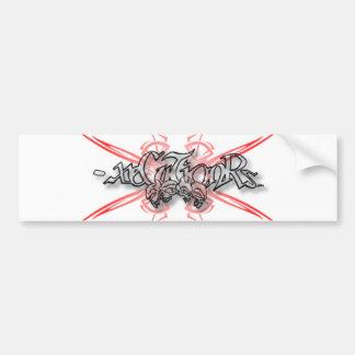 -x Bumper Sticker 001 - Tribal Skulls