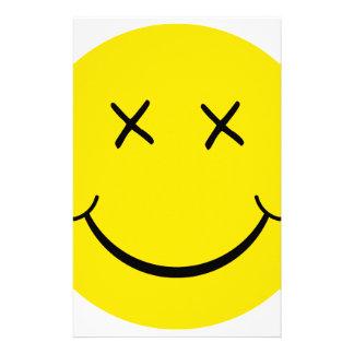 X cara del smiley del ojo  papeleria de diseño