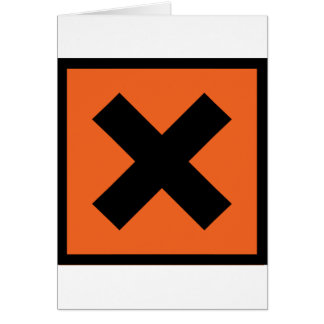 x chemist toxic sign card