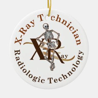 X círculo Brown del técnico del rayo Ornamento Para Arbol De Navidad