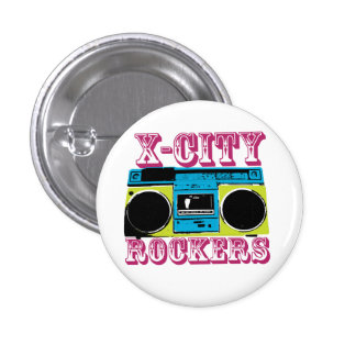 X-CITY ROCKERS badge 1 Inch Round Button