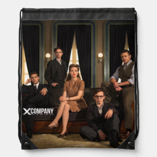 X Company Cast Photo Drawstring Backpack