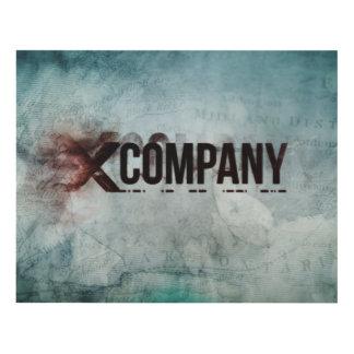 X Company Map Panel Wall Art