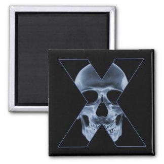 X-Cráneo Imán Cuadrado