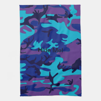 X Dark Blue and Purple Camouflage Kitchen Towel