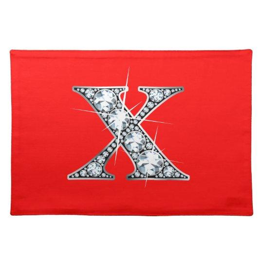 """X"" Diamond Bling American MoJo Placemat"