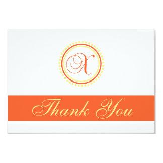 X Dot Circle Monogam Thank You (Orange / Yellow) Card