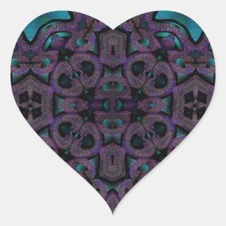 x edredones azules y púrpuras pattern.png pegatina en forma de corazón