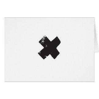 X el bolsillo marca el punto tarjeta de felicitación