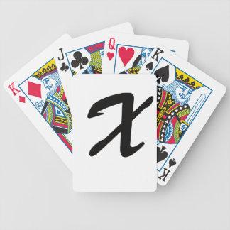 X está para extraordinario cartas de juego