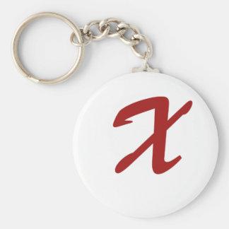 X está para extraordinario llavero redondo tipo pin
